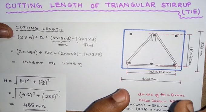 Cutting Length of Triangular Stirrups