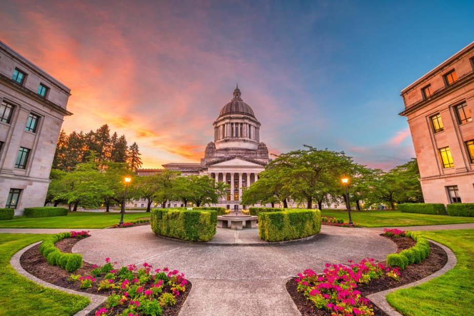 Washington Olympia state capitol P7GG4W