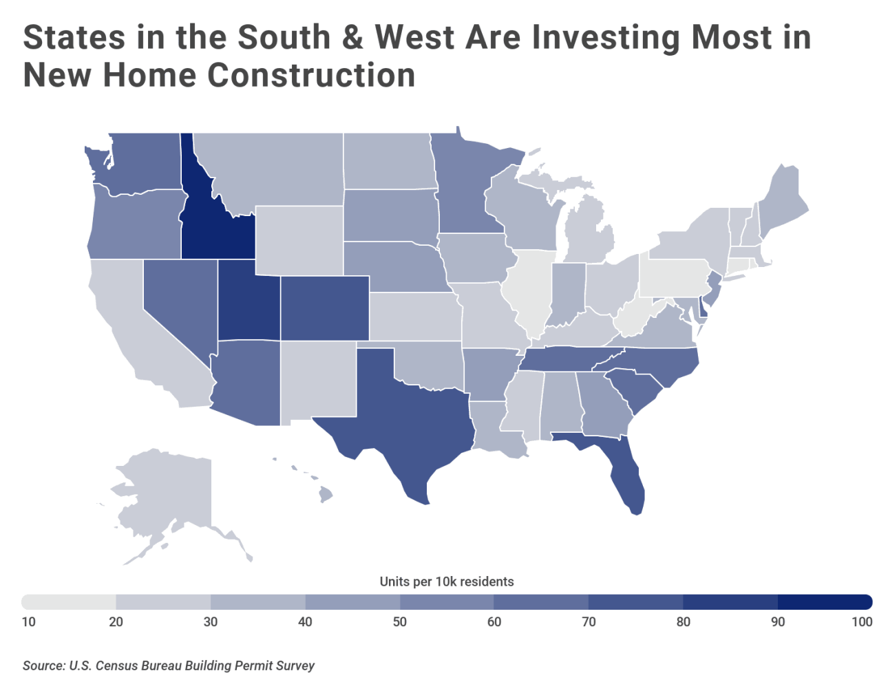 Chart2 New housing construction by state