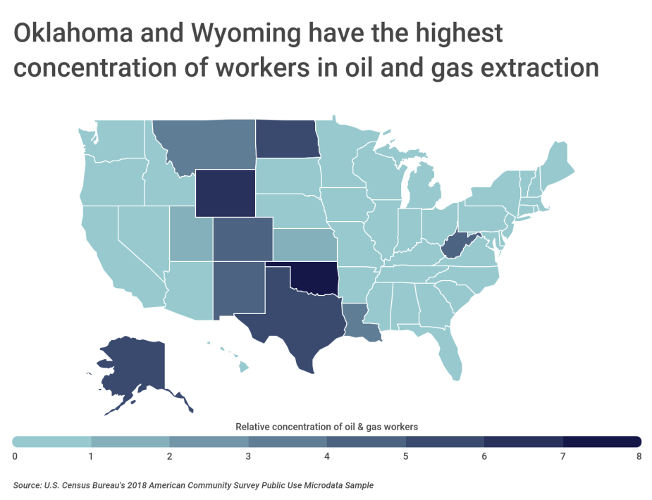Chart2 Oil and gas employment by state