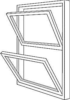 Illustration of Double-Hung Window