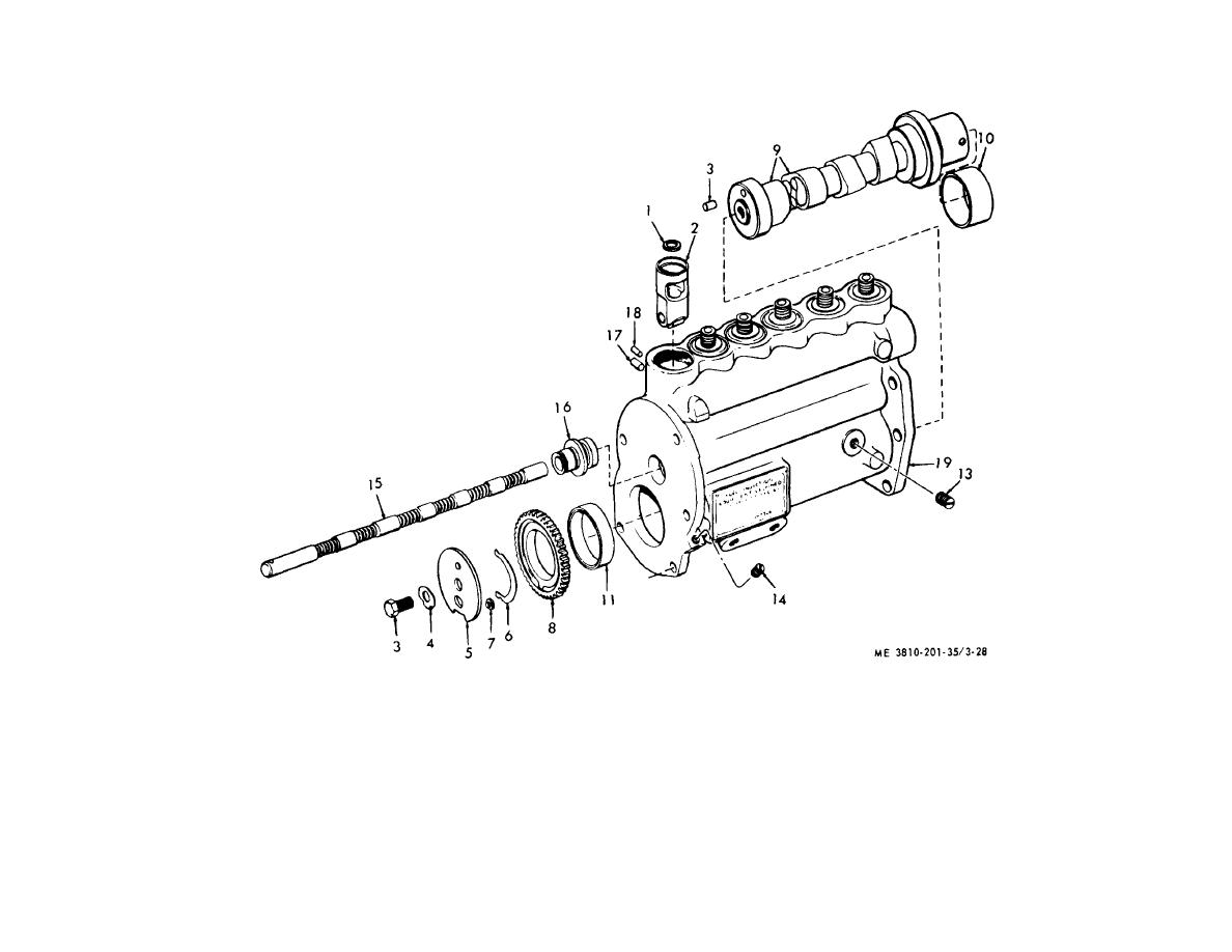 Figure 3 28 Fuel Injection Pump Lifter Camshaft Fuel