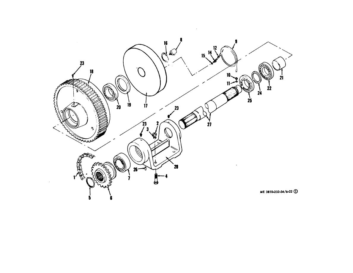 Figure 6 22 1 Crane Auxiliary Shaft Assembly Exploded