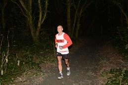 Night running in the woods