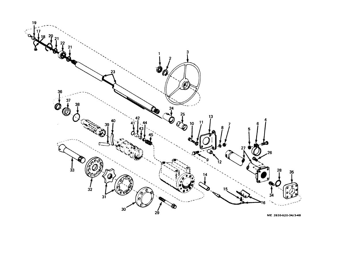 Figure 3 48 Steering Column And Gear Exploded View