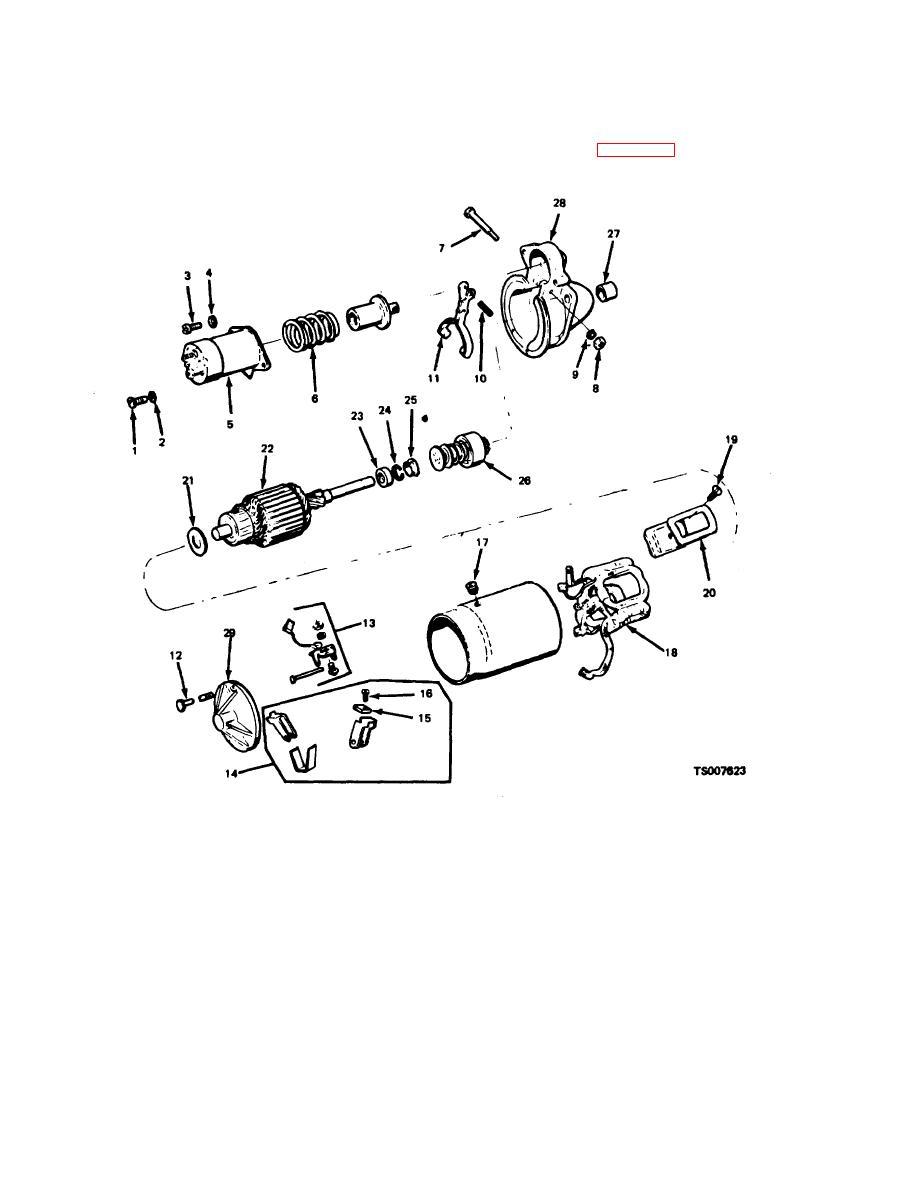 Figure 5 2 starter motor exploded view