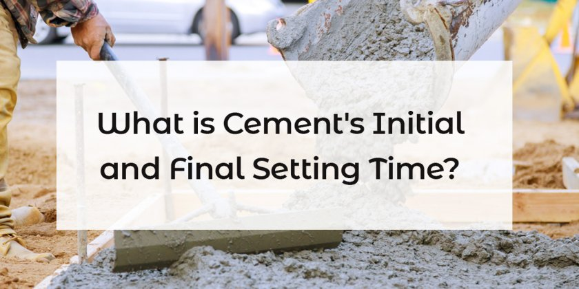 setting time of cement