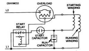 SplitPhase Hermetic Motor Windings and Terminals