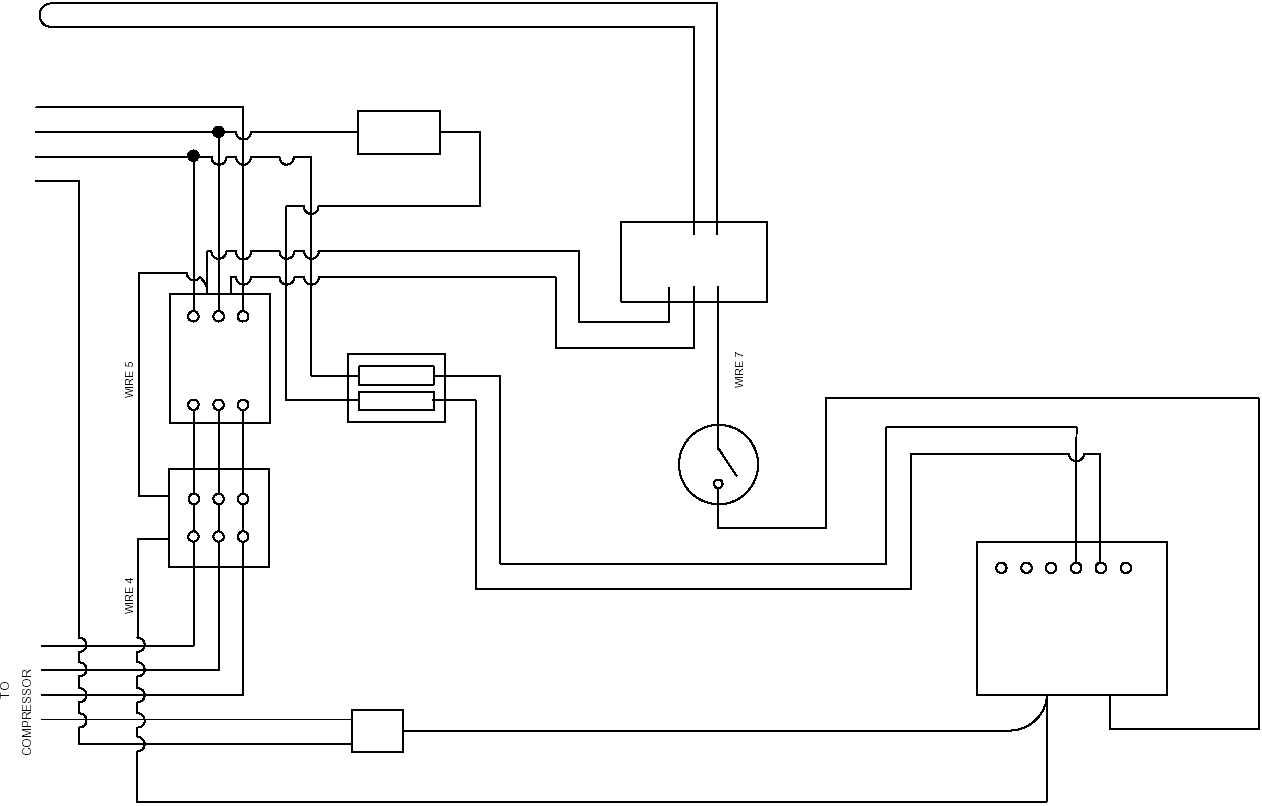 120v compressor wiring