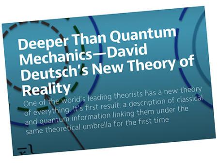 Deeper Than Quantum Mechanics