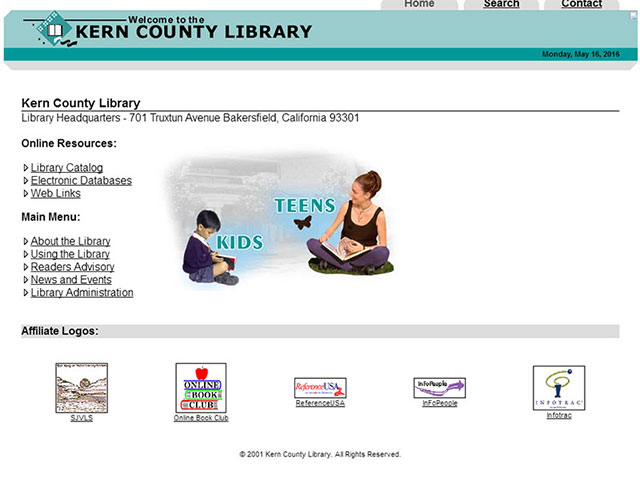 Kern County Library, Fluid Layout