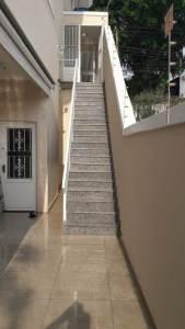 Reforma completa Vila Sonia escada de mármore