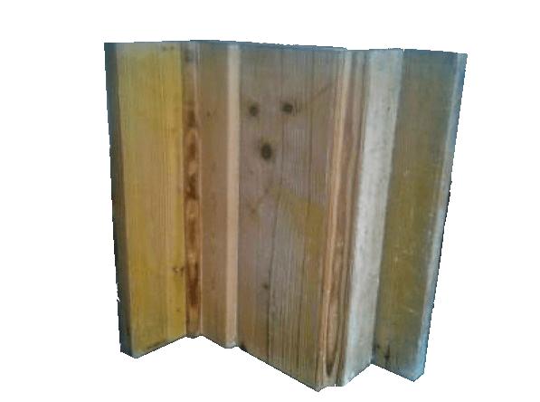 Molde confeccionado en madera