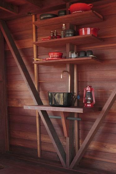 Diseño de mini cocina de campo rústica
