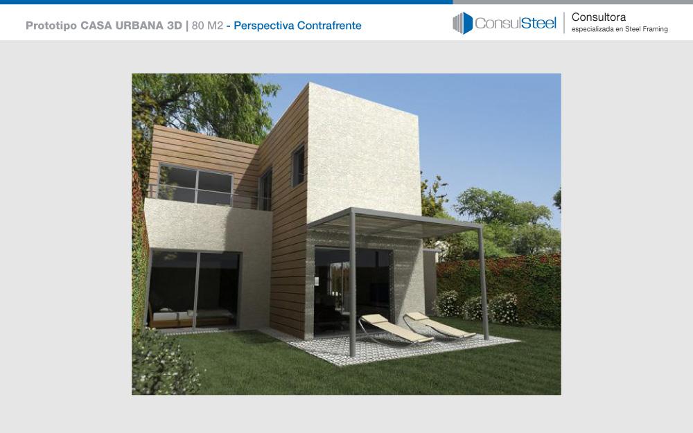 Nuevo prototipo en steel framing para el plan procrear for Casa clasica techo inclinado procrear