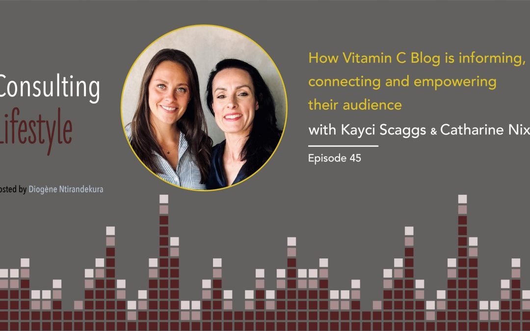 #045 – How Vitamin C Blog is informing, connecting and empowering their audience with Kayci Scaggs and Catharine Nixon