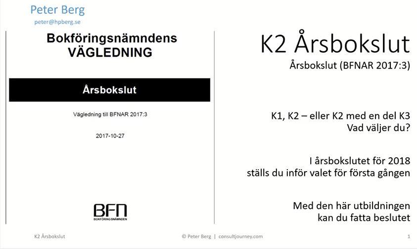 "YouTube Presentation ""K2 Standard for Annual Accounts"" | ""K2 Årsbokslut"""