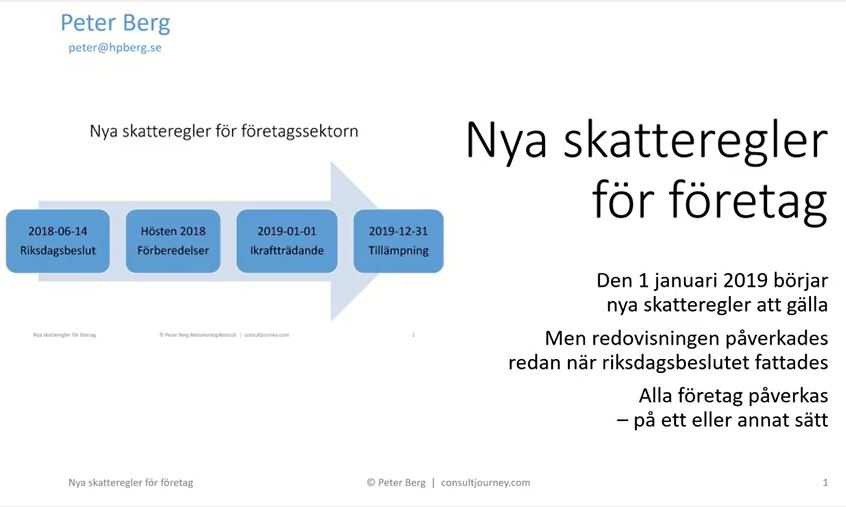 "YouTube Presentation ""New Corporate Taxation"" 