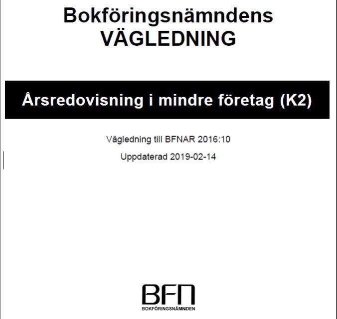 Updated K2 standard | Uppdaterad K2 Årsredovisning