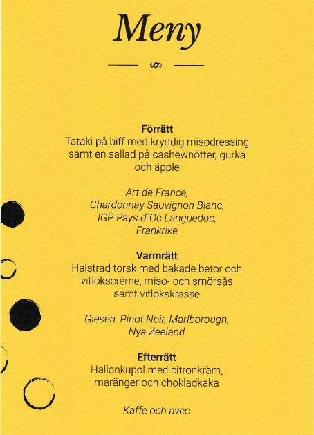 The wunderful menu | Den underbara menyn