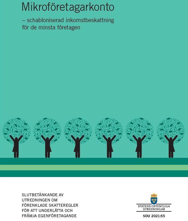 Betänkande 1 juli 2021 om schablonbeskattning, omslagsbild till betänkandet