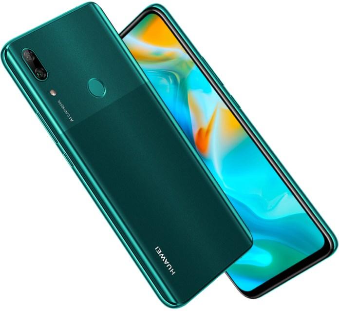 huawei p smart z back design color green
