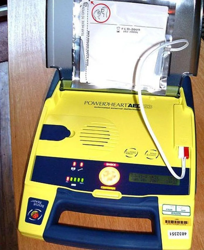 News Picture: Heart Defibs in Schools Are Saving Staff Lives: Study