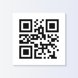 QR Code Tag Illustration