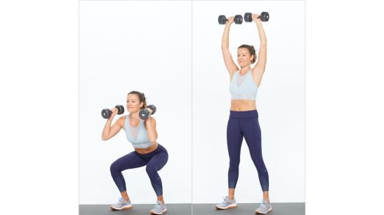 Do dumbbell thrusters
