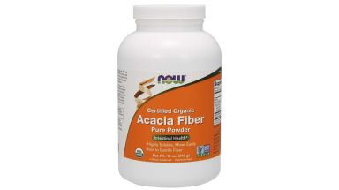 Organic Acacia fiber powder by NOW