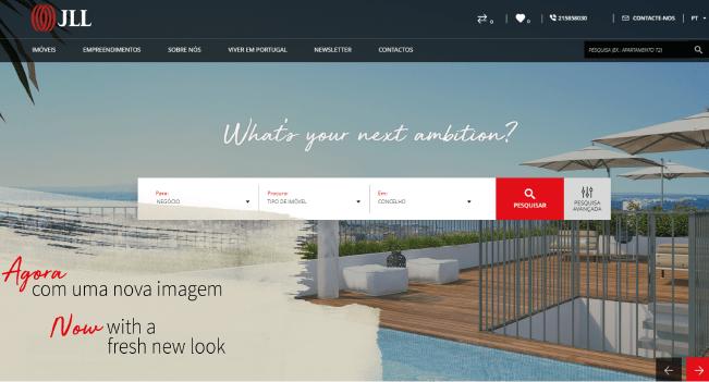 JLL renova website para a área residencial