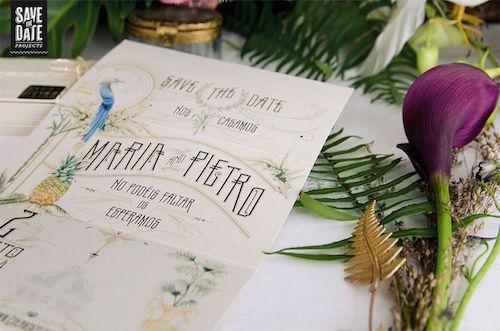Invitación de boda vintage indiano colonial