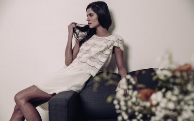 Novias de corto por Laure de Sagazan