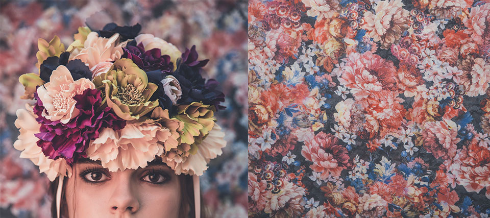 Tocados con flores XL