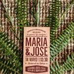 Las invitaciones en madera de M&J