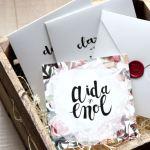 Las invitaciones de Aida y Enol