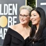 Activistas acompañan a actrices en la alfombra roja de los Globos de Oro