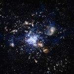 NASA muestra cúmulo de galaxias con masa de dos mil billones de soles