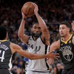 122-105. Thompson logra 25 puntos en la victoria de los Warriors