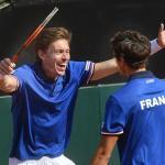 Francia triunfa en dobles ante Italia y se adelanta 2-1