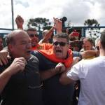 Tensión en la llegada de Lula a la sede de la Policía Federal en Sao Paulo