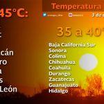 Tendremos menos calor este día en Durango, temperatura máxima entre 29-30°C