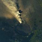 Astronauta capta desde el espacio erupción del volcán Kilauea