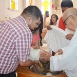 Osman Alexis Aguilar Rubio recibió las aguas bautismales