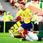 Con penal, Suecia se pone 2-0 ante México