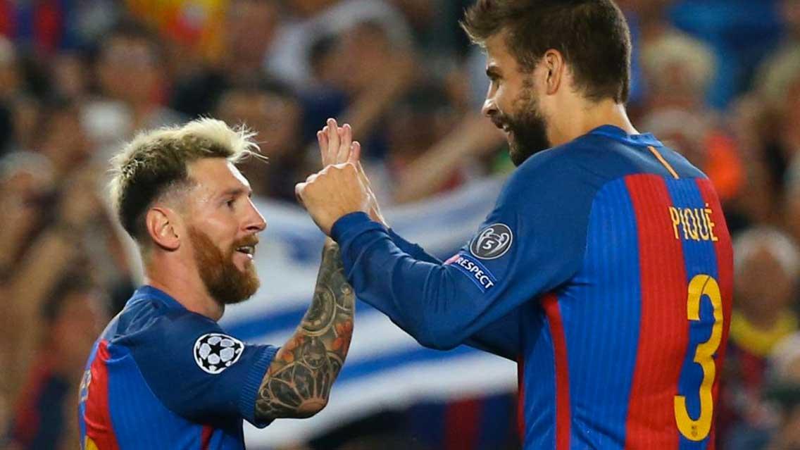 """Resultado de imagen para Piqué defiende a Messi y dice que su compromiso con Argentina es """"indudable"""""""