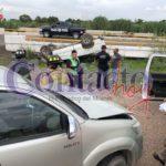 Se registra un segundo accidente automovilístico en el día sobre el libramiento del 5 de Mayo a la carretera a México; tres lesionados leves