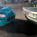Taxista se estrella en auto estacionado en las afueras de Contacto hoy; no hay lesionados