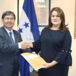 Nuevo vocero de la Maccih presenta carta credenciales a canciller hondureña
