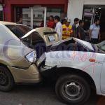 Tres accidentes viales en la ciudad en un lapso de media hora esta mañana